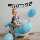 Look at how happy birthday boy James is with his Rocking Animal Nino the Narwhal 🤗    📷: @debbiedk88     #trycobaby #rockinganimal #rocking #rockingnarwhal #nursery #nurseryideas #nurseryinspo #nurserydecor #kidsroom #playroom #childrenstoys #playtime #narwhal #cuteness #cutenessoverload